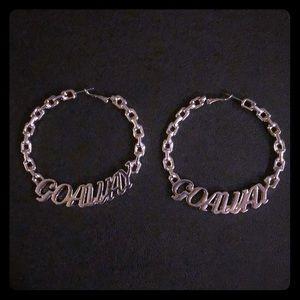 Go Away Chain Hoops